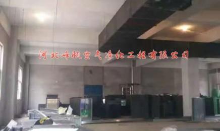 河北大凤金食品净化厂房施工现场