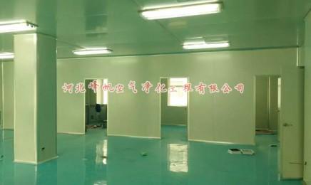 河北保定化妆品净化厂房、面膜净化车间施工安装