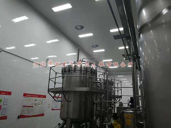 乳品灌装净化车间、奶制品净化厂房装修、河北峰帆净化(诚信)